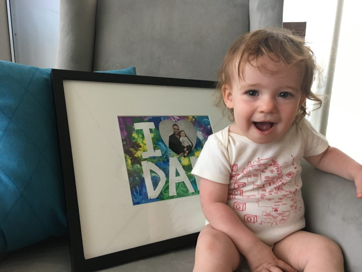 Father's Day DIY   Fun & Mess-Free painting project for even the littlest artists
